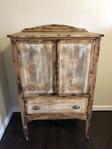 Refinished Antique Cabinet Solid Wood Canadian Made