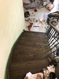 Stairs flooring & professional painting services