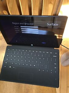 Microsoft surface with case