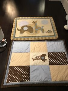 Matching carpet , cover , lamp and diaper bag baby room