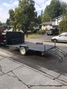 Flat deck unbuilt trailer