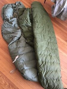 6' army sleeping bag inner and outer bag