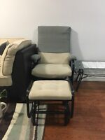 Rocking chair with footrest $25