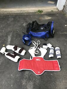 Youth (size 0) taekwondo TKD pads full set