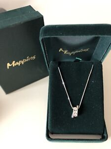Mappins - 14kt White Gold Necklace w/ Diamonds