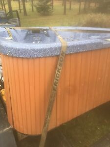 Beautiful 8-9 person hot tub can drop off works excellent