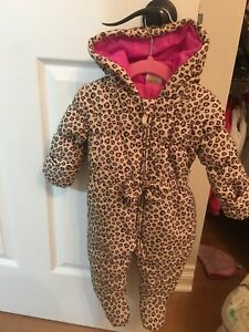 Gorgeous 3-6 months girls leopard snowsuit
