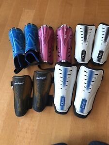 Little kids shin pads - 5 pairs - various sizes