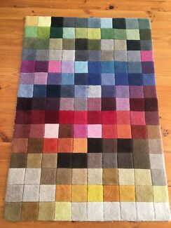 Colourful floor rug