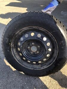 Winter tires and rims - 165/65R/15  LIKE NEW