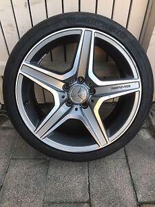 """Genuine - 1 SINGLE Mercedes C63 18""""  FRONT Alloy Wheel RIM TYRE Melbourne CBD Melbourne City Preview"""