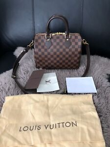 Authentic Louis Vuitton Speedy 25 Bandouliere in Damier Ebene