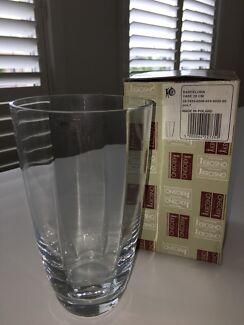 Krosno brand 20cm glass vase - new in box