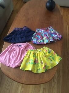Baby gap and carter skirts
