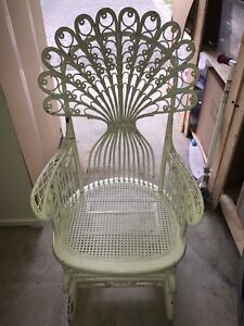 Antique wicker rocker chair