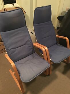 2x IKEA lounge chairs