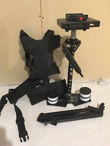 Flycam 5000 steadycam and vest mount