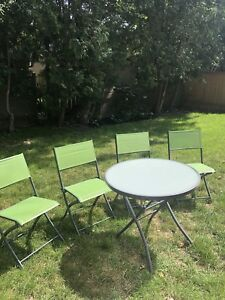 Patio table and 4 chairs