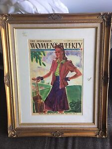 Women's weekly 1941 cover  in beautiful frame St Peters Marrickville Area Preview
