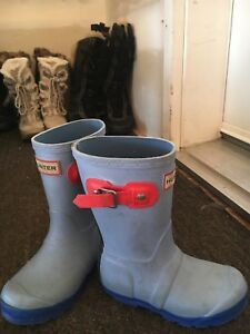 Hunter boot toddler size 10