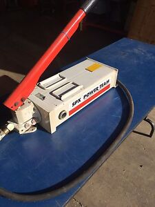 Power Team hydraulic hand pump