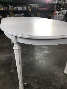 Solid oak distressed dining table