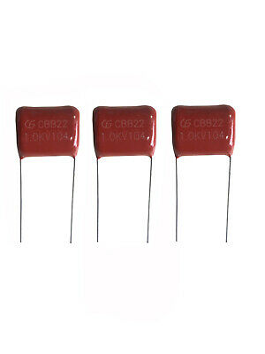 20 Pcs High-voltage Film Capacitors Cbb22 104j 1000v 0.1uf 1kv 1070 P20mm