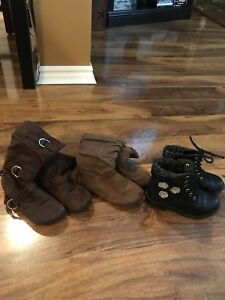 Girls fall boots size 9 and 10