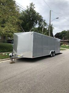 2018 26' plus V nose enclosed trailer