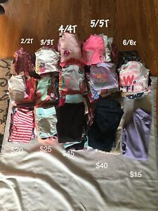 Girls clothing lots 2/2T-6/6X