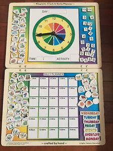 Melissa and Doug clock and day schedule