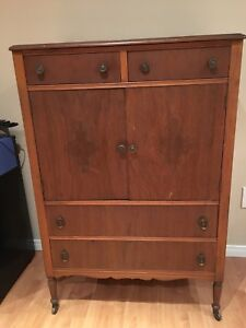Antique dresser (multiple uses) with wheels