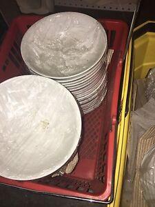 Vaisselle, blanche ,  ensemble 40 personnes