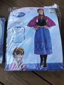 Disney Frozen Princess Anna Costume plus Wig
