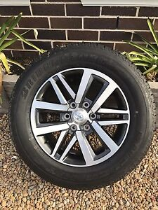 Toyota Hilux SR5 18 inch alloy rim and new Bridgestone dueler tyre West Pennant Hills The Hills District Preview