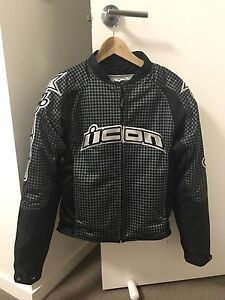 Icon black dryrider motorcycle jacket Newstead Brisbane North East Preview