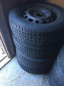 Set of Four Winter Tires on Steel Rims