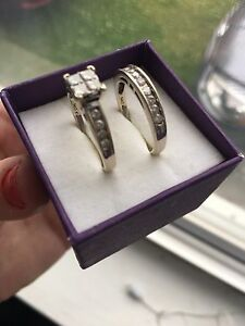 Engagement and wedding band for sale
