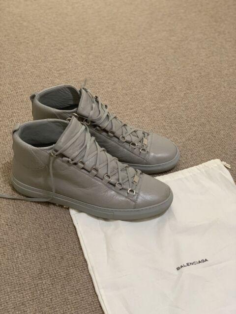 329263133f11 Balenciaga Men  39 s Arena Creased-Leather High-Top Sneakers