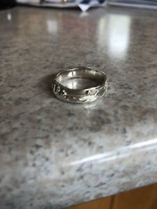 Sterling silver ring with yellow gold accents