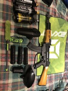 Paintball marker tippman A5 with I5 mask