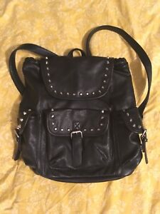 FOREVER 21 Faux Leather Studded Backpack