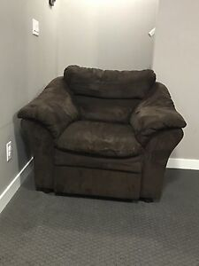Brown microfiber chair