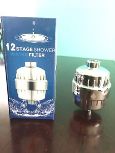 Upgraded 12 Stage shower water filter removing Chlorine.
