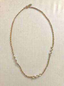 Evoke Gold Plated and Pearl Necklace
