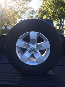 4 x 17inch Dodge Ram 1500 rims and tires