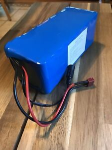Cordless electric lawnmower battery