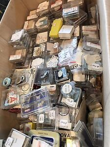 Box FULL of new old stock mechanical watch repair parts