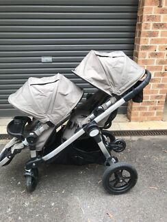 City select double pram with glider board, tray and more