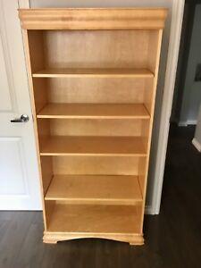 Bookshelf, dresser and chest bedroom set